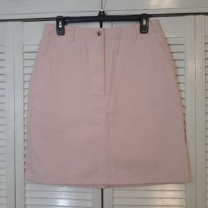 L.L. Bean cotton blush chino skirt sz 10 *H